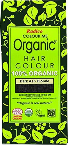 Radico Colour Me Organic - Tinte para el cabello vegetal, rubio ceniza oscuro (orgánico, vegano, cosmética natural), color rubio oscuro