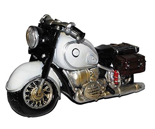 alles-meine.de GmbH Spardose Motorrad / Oldtimer - grau - stabile Sparbüchse aus Kunstharz - Bike / Biker / Fahrzeug Old Style - Fahrschule - Geld Sparschwein / Fahrzeuge - lusti..