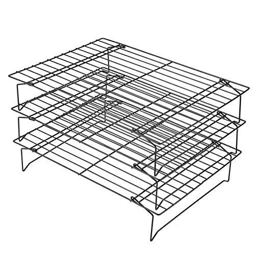 yqs Auskühlgitter 3 Schichten Stapelbar Kühlregal Metallkuchen Kekse Brotkühlregal Netzmattenhalter Trockenkühler Zum Kochen