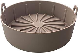 Air Fryer Silicone Pot panier Air Fryer remplacement pour papier Liners Air Fryer Accessoires S Brown