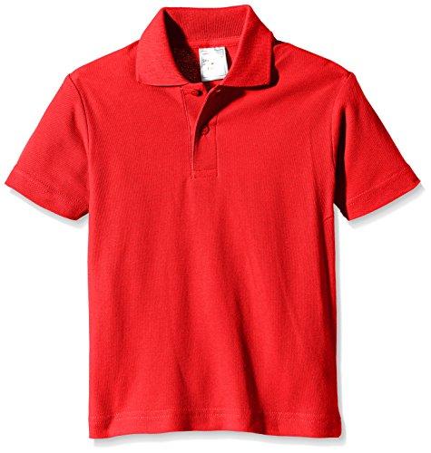 Stedman Apparel Jungen Polo/ST3200 Poloshirt, scharlachrot, 9 Jahre