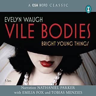 Vile Bodies audiobook cover art
