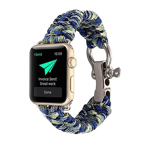 KAEGREEL Correas de Reloj Trenzadas Solo Loop compatibles con Apple Watch SE Series 6 Correas 40 mm 38 mm Nylon Reemplazo de Pulsera para Iwatch Series 6/5/4/3/2/1/SE,42mm/44mm
