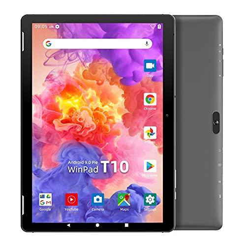 WINNOVO T10 タブレット 10インチ wi-fiモデル Android 9.0 4コアCPU RAM3GB ストレージ32GB 解像度1280*800 IPS 5MPリアカメラ 2.4G&5G Wi-Fi Bluetooth GPS FM機能搭載 (ブラック)