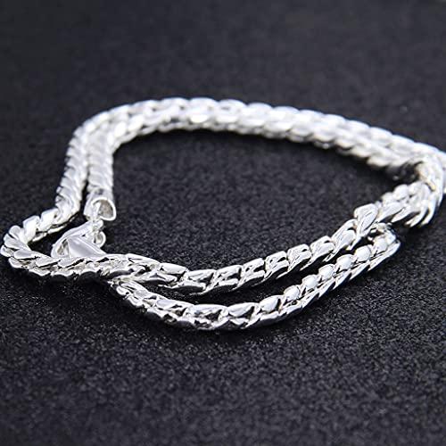 KONZFP Collar Collar de Cadena de Serpiente Mujer Hombre Moda Joyería de Cadena Simple