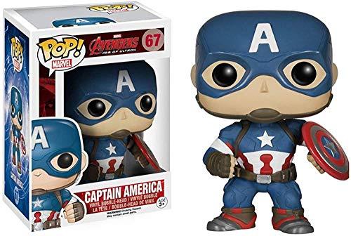TYRIXEN Funko Pop Captain America Capt Figurine à Collectionner modèle Anime Action Vinyle Statues Jouets à Collectionner Cadeaux avec étui de Protection de boîte-Une