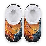TropicalLife BGIFT Zapatillas de baloncesto para deportes acuáticos, para mujer, hombre, espuma viscoelástica, para el hogar, cálidas, suaves, con forro polar, para interiores y exteriores, para dorm