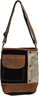s Peace Pocket Upcycled Canvas & Denim Shoulder Bag S-0895