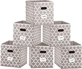 Cube Storage Bins 12 x 12 - Foldable Fabric Toy Box Organizer Chest Baskets Containers with Handles for Closet,Shelf,Bedroom - Set of 6