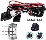 Kit de cableado de luz antiniebla – 12 V/24 V universal para coche, luces de trabajo LED de conducción, arnés de cableado de luz antiniebla, interruptor de encendido/apagado – Kit de relé de fusible