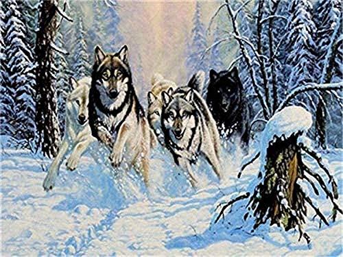 LFZY Rompecabezas de 3000 Piezas de un Grupo de Lobos Salvajes Corriendo Rompecabezas para niños Juego Creativo de Ocio Rompecabezas de Juguete