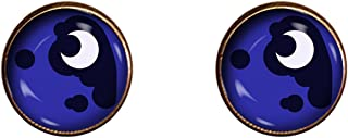 Luna Earrings 10mm Friendship is Magic My Little Pony Handmade Jewelry Gift Charm