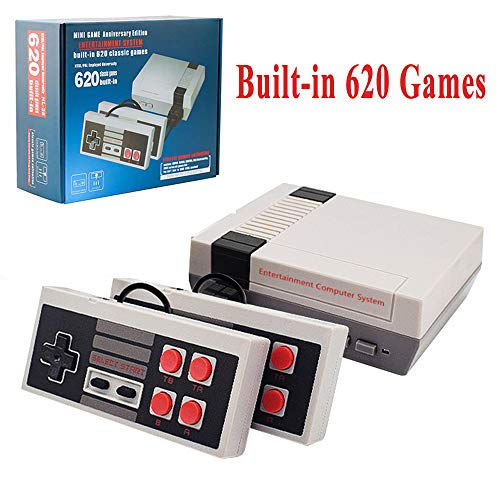 LIFTREN Plug & Play Classic Game Console, Classic Game Console Built-in 620 Game Video Game Console, Retro Game Console for Family TV Video