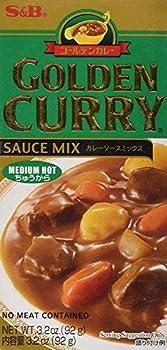 S&B Golden Curry Sauce Mix (Medium Hot, 3.2 oz)