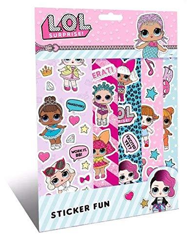 Lol surprise sticker set pegatinas amigos libro