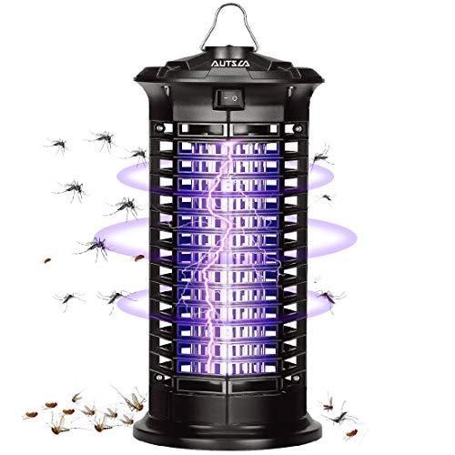 AUTSCA Elektrischer Insektenvernichter,Insektenfalle Mückenlampe 11w 1000V mit UV-Licht,Keine giftigen Chemikalien,Wirksam zum Reduzieren Fliegender Insekten für Innen Schlafzimmer und Gärten