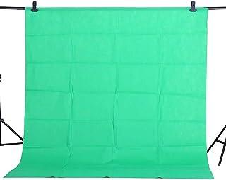 Konseen 写真撮影用 背景布 1.6m x 2m 緑 折り畳める バックグラウンド バックスクリーン 不織布 バックドロップ 背景シート 写真 フォトスタジオ ビデオ テレビに対応