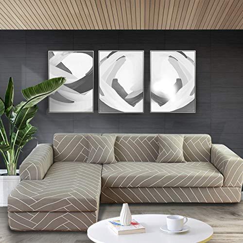 ASCV Funda de sofá elástica con Estampado Floral Fundas de sofá Fundas de sofá para Sala de Estar Sofá de Esquina Toalla Funda de sofá A6 2 plazas
