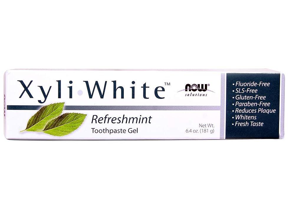 についてバリア仮称[海外直送品] ナウフーズ キシリホワイト リフレッシュミント歯磨きジェル 181g