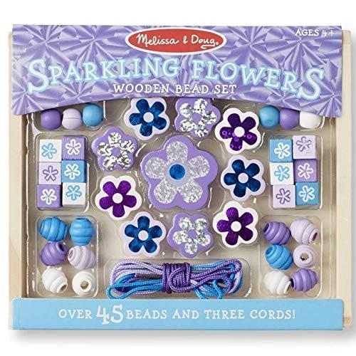 Loisir créatif Perles en Bois Fleurs Violettes Kit Perles Fantaisies pour Enfants 4 Ans Melissa and Doug