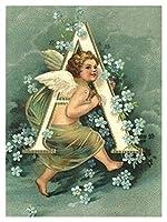 大人のための数字で塗る初心者 - 子供のための塗料 - 数字のキット - 数字アクリルホーム壁の植え物 - 小さな天使 (Size : 40x50cm)