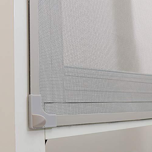 DM&FC Einstellbare DIY Fliegengitter Für Fenster,Unsichtbar Fliegen Mesh-vorhänge Für Windows Abnehmbare Waschbar,Montagezubehör B 125x150cm/49x59inch