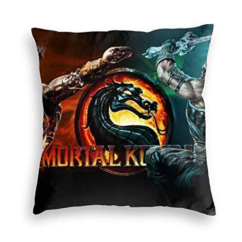 lucies Mortal-Kombat Red Fithght Vel-Vet Kissenbezug Cover Decor Einzigartige Kissenbezug Quadratisches Kissen für Haut Home Bedding 18 '' x18-8D2