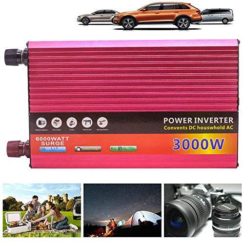 Omvormer 3000 W spanningsomvormer DC 12 V 24 V naar AC 220 V auto converter met Outlet en USB-aansluitingen voor laptop, tablet, telefoon en andere apparaten 24VTO220V