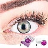 """Sehr stark deckende und natürliche graue Kontaktlinsen SILIKON COMFORT NEUHEIT farbig """"Mirel Grey"""""""