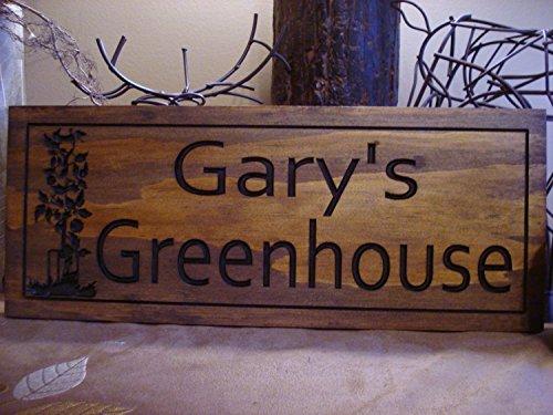 Norma Lily Gewächshaus Schild aus Holz Bedruckt Personalisierte Holz Schild Home Garden Veggie Gemüse Homestead Schilder Benchmark