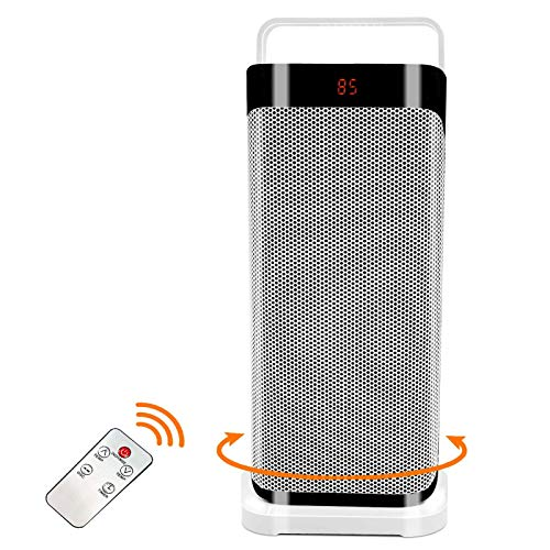 Patio Tower Heaters Outdoor - Oscillating Portable Large Electric Heater, Remote Ceramic Fan Heater Adjustable Thermostat 12 Hours Timer Overheat, Tip-over Protection, Office, Bedroom, Home, Space Heater
