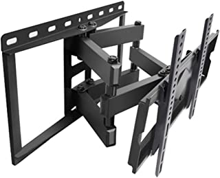TV Stand Display Universal Bracket Telescopic Rotating TV Wall Hanging Hinged Arm VESA Up to 600 * 400mm (Color : Black, S...