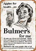 2個 8 x 12 CM メタルサイン - 1954 Bulmer's Apple Cider メタルプレート レトロ アメリカン ブリキ 看板