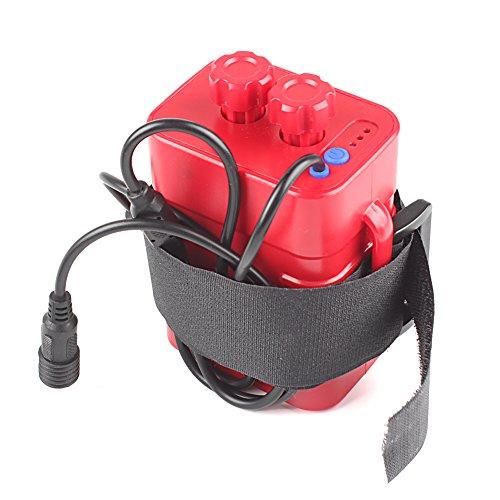 Haosshop Batería Pack Case 8.4V 6x 18650 Impermeable Casa Cubierta Para Bicicleta Bicicleta Bicicleta Lámpara Rojo