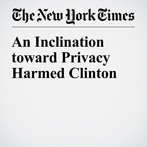 An Inclination toward Privacy Harmed Clinton cover art