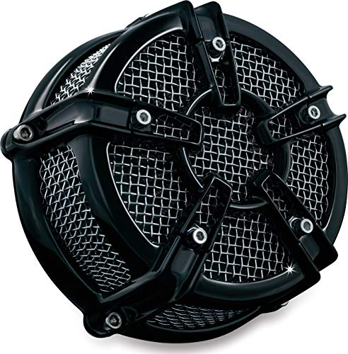 Kuryakyn 9572 Mach 2 Co-Ax Air Cleaner/Filter Assembly for Harley-Davidson Motorcycles, Custom Applications, Gloss Black