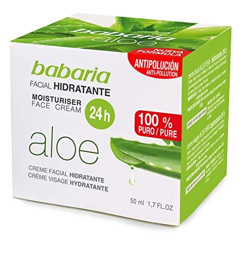 Babaria - Crema facial hidratante, 50 ml
