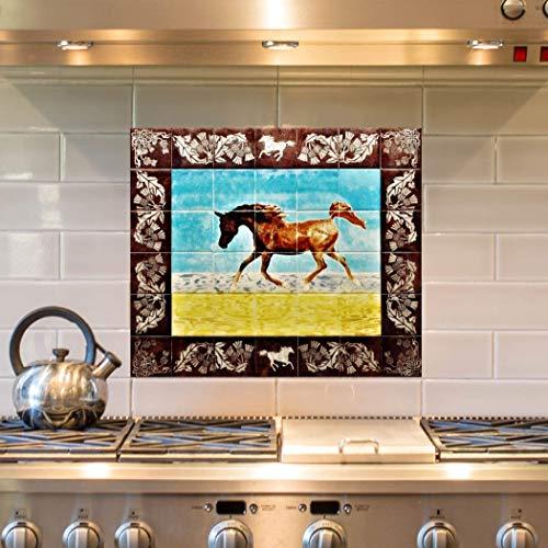 Splashback for kitchen, HANDMADE CERAMIC ART, decorative wall art