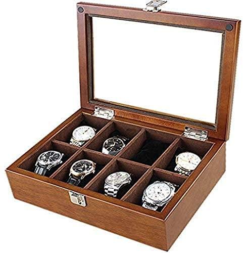 Wooden Watch Box Armband Kollektion Samtgürtel Tischtasche Display Schmucketui Organizer Halter High End Aufbewahrungsbox