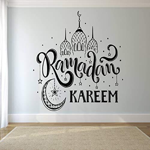 YIYEBAOFU Pegatinas de Pared Pegatinas Feliz Navidad Ramadan Kareem Islam Religioso Decoración de Pared Pegatinas...