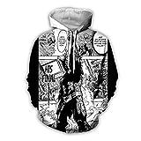 GIRLXV Puños Roscados De Otoño E Invierno para Hombres Y Mujeres My Hero Academia Sudaderas con Capucha Suéter De Anime Suéter con Capucha De Impresión Digital En 3D Mou M