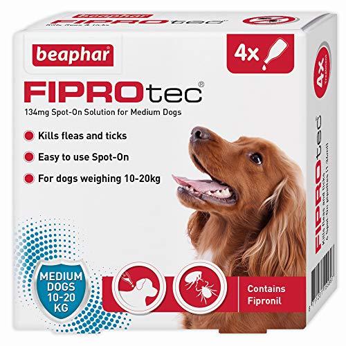 Beaphar Fiprotec Spot-On for Medium Dog, 4 Pipette