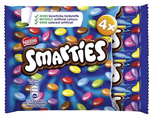 Smarties Schokolinsen mit Zuckerüberzug, 4 Rollen - 152g - 2x