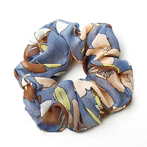 OULN1Y Bandeaux Hair Scrunchies Elasticity Scrunchie Ponytail Holder Hairband Print Pattern Hair Rope Tie Stipe Floral Women Girls,3