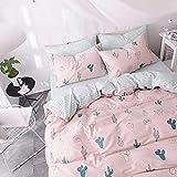 FenDie Cactus Pink Bedding Set - No Filler, Pink Duvet Cover Set for Girls, Twin...