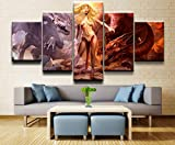 tong99 Modern Canvas Painting Home Decoration HD Print Posters 5 Black Dragon Fantasy Tattoo Pictures Living Room Wall Art-Sin Marco