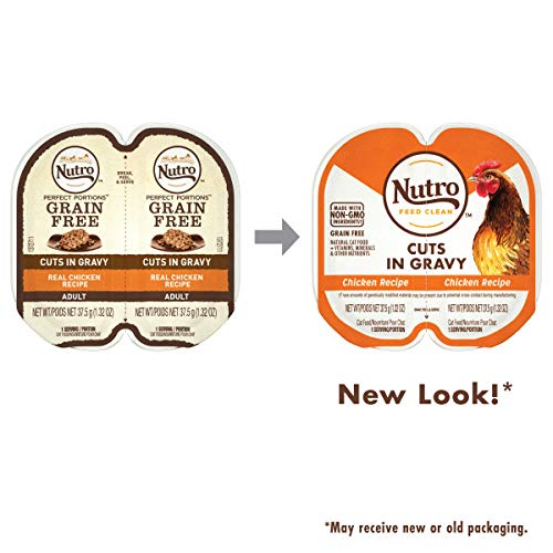 NUTRO PERFECT PORTIONS Grain Free Natural Adult Wet Cat Food Cuts in Gravy Real...