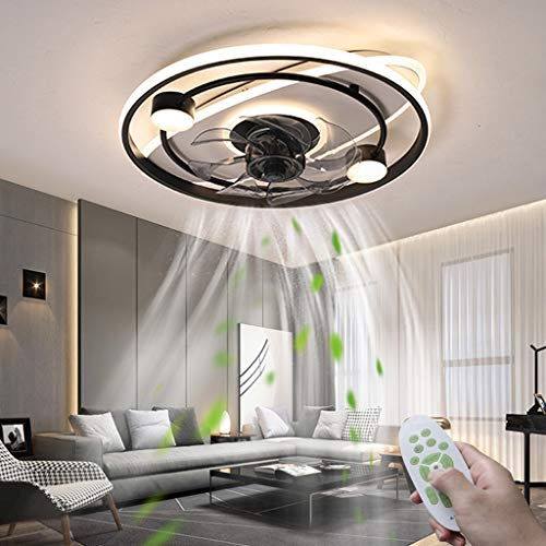 Ventiladores De Techo Modernos LED Con Iluminación Silencioso Invisible Fan Luz De Techo Con Control Remoto Regulable De 50W Lámpara De Techo Ventilador Ajustable De 3 Velocidades Dormitorio