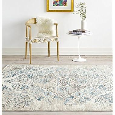 4620 Distressed Cream 6'5x9'2 Area Rug Carpet Large New