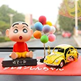 Kreativer Wachsmalstift Xiaoxin Anime handgemachte Puppe Cartoon Auto Mittelkonsole Dekoration Autozubehör Auto Ornamente-Rote Hose Xiaoxin B.